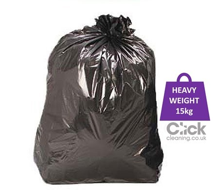"Black CHSA Heavy Weight 15kg Sacks 29"" x 39"" (200)"