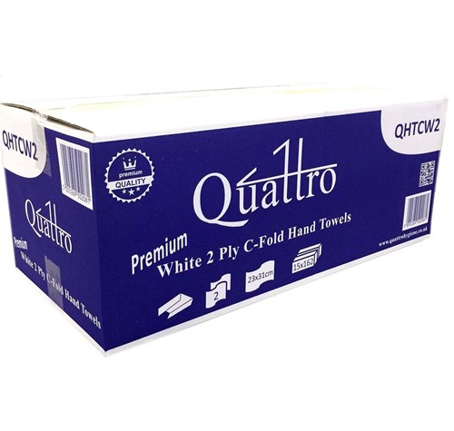 Hand Towels Meaning: Quattro QHTCW2 C-fold Hand Towel