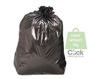 "Black Light Duty Refuse Sacks 5kg 29"" x 34"" (200)"