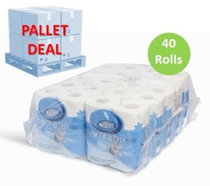 PALLET Nicky Soft Touch 2ply Toilet Rolls 40 Rolls