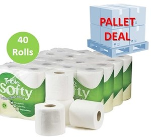 PALLET - Triple Softy 3ply Toilet Rolls 40 rolls (40 cases)