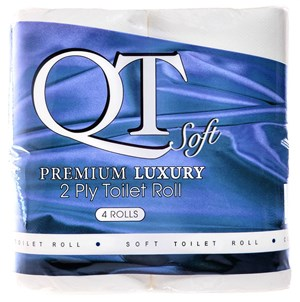 QT Soft 2ply - Premium Luxury Toilet Roll (40 rolls) QTS2P