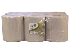 Eco Natural Centrefeed Rolls 2ply (6 Rolls)