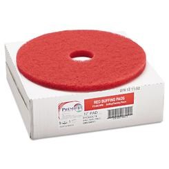 "Red Standard Floor Pads 17"" (box of 5)"