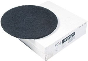 "Black Contract Standard Floor Pads 17"" (box of 5)"