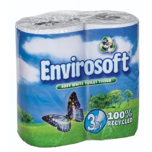 Envirosoft 3ply ECO Friendly Toilet Rolls (40 rolls)