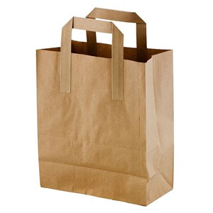 Brown Paper Takeaway Bags (pack of 125)