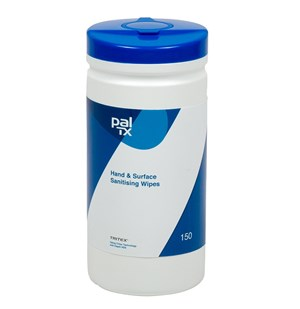 Paltech Hand Sanitising Wipes (Tub of 150)