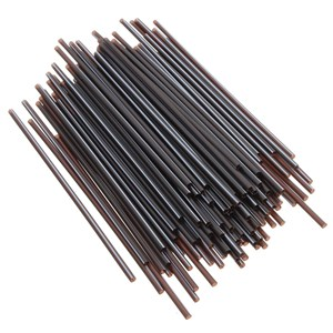 1000 x Black Mini Memphis Straws 5.5-inch