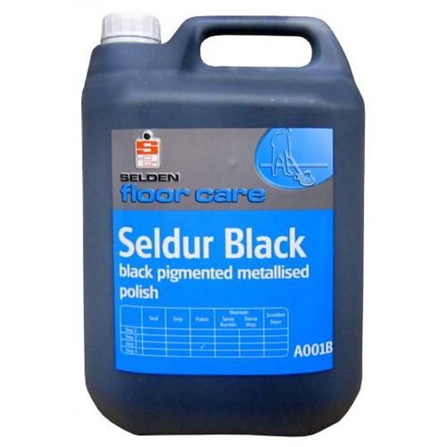 Seldur Black Metallised Floor Polish 5ltr Click Cleaning
