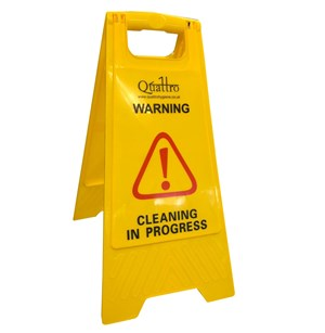 Quattro Premium Safety Floor Sign - Yellow
