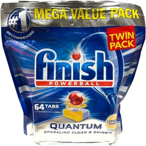 Finish Quantum Dishwasher Tablets 2x64 pack (128 tabs)