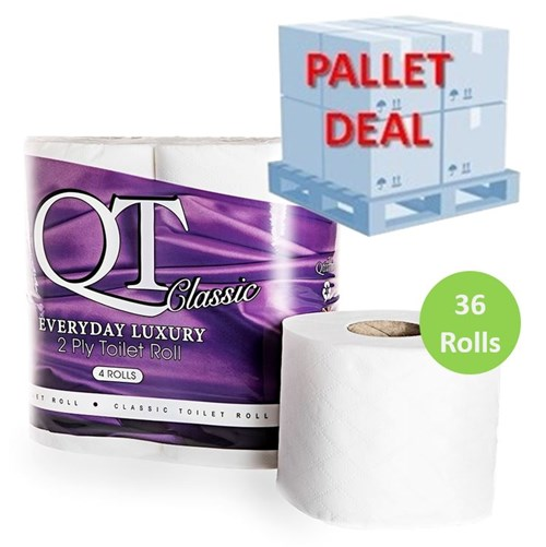 PALLET QT Classic Everyday Luxury Toilet Roll (54 Packs) QTC2P