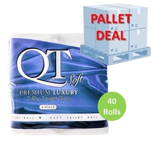 PALLET QT Soft Premium Luxury Toilet Rolls (40 Packs ) QTS2P
