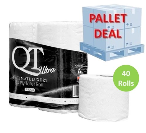 PALLET QT Ultra Ultimate Luxury Toilet Roll (40 packs) QTU3P