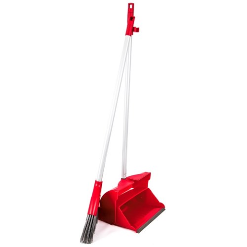 Economy Lobby Dustpan and Brush Set RED