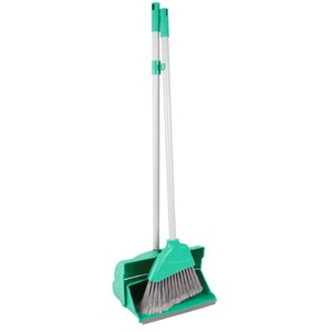 Economy Lobby Dustpan and Brush Set GREEN