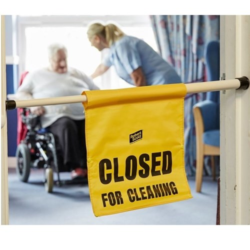 Hanging Door Safety Sign ' Closed for Cleaning'