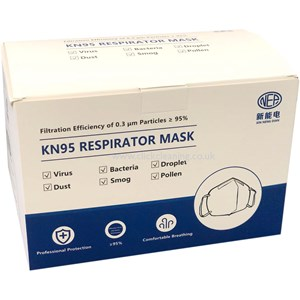 KN95 Respirator FFP2 4ply Face Mask (BOX of 100)