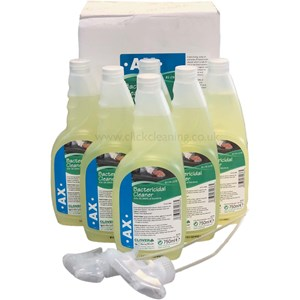 AX - Bactericidal Cleaner 6x750ml Trigger (with 2 trigger heads)