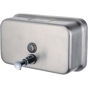 Stainless Steel Bulk Fill Horizontal Liquid Soap Dispenser 1.2litre