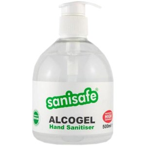 Sanisafe AlcoGel Hand Sanitiser 500ml