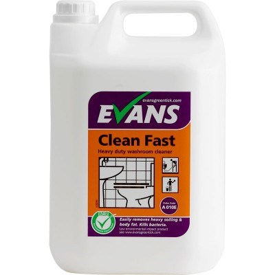 Evans Clean Fast Heavy Duty Washroom Cleaner 5litre