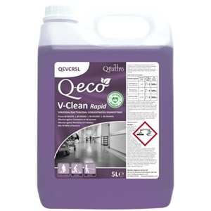 Q-eco V-Clean Rapid - Virucidal Concentrated Disinfectant 5litre (QEVCR5L)